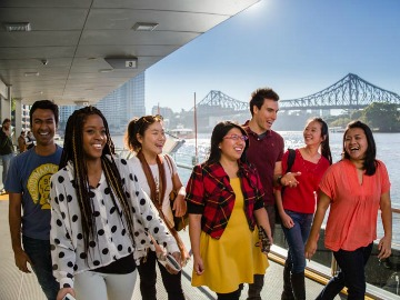 International students in Brisbane