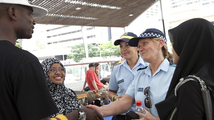 International Students meeting with Brisbane's Police Officers